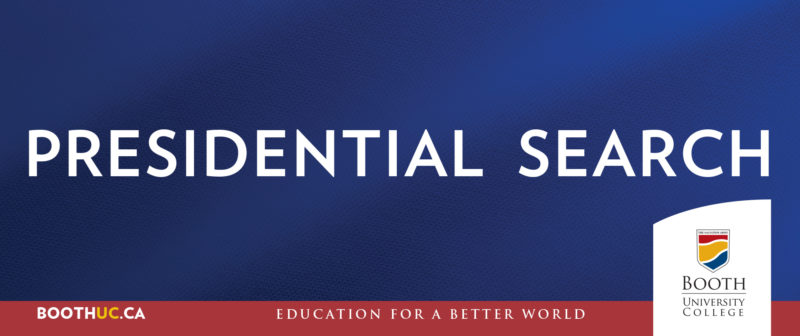 Booth UC Presidential Search Banner